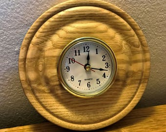 Ash clock for wall mounting