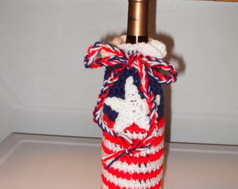 Red White and Blue Wine Cozy