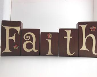 Faith Wood Block Set