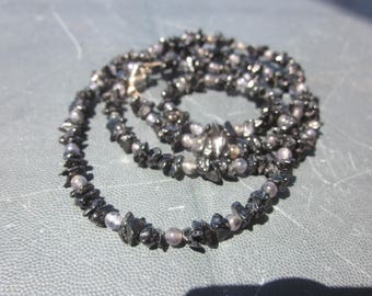 black Spinell Iolite NECKLACE