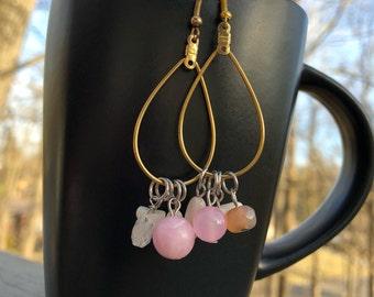 Teardrop earrings, bohemian earrings, trendy earrings, beaded earrings, gypsy earrings, dangle earrings, boho earrings