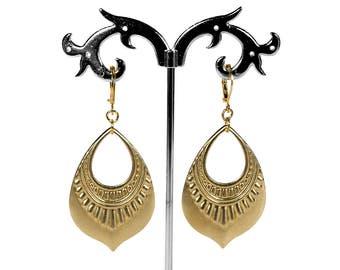 Boho Earrings, Gypsy Earrings, Gold Dangle Earrings, Tribal Earrings, Hoop Earrings, Gold Drop Earrings, Boho Jewelry, Steampunk Boutique