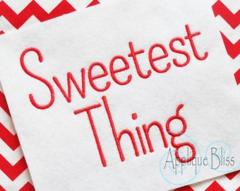 Sweetest Thing Embroidery Font - Alphabet