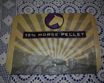 Recycled Feedsack Kitchen Horse Placemats cottage/country/farm/decor