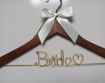 Sale, Ships in 1-3 days, Personalized Wedding Hanger,bridesmaid Hanger,name hanger,bride hanger,bridal party gifts,custom hanger,hanger,gift