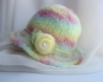 Felted Newborn Hat - Knit Pattern