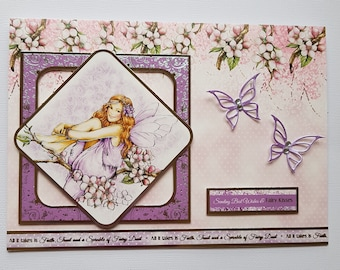 Handcrafted beatiful best wishes card.