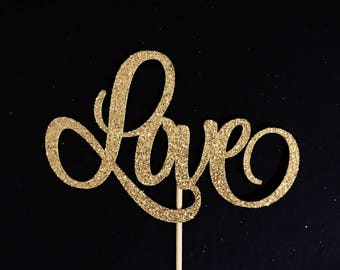 Love Cake Topper, Bridal Shower Cake Topper, Wedding Cake Topper, Engagement Cake Topper, Bachelorette Cake Topper, Bride to Be Cake Topper