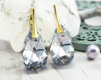 Crystal AB earrings, Bridal earrings, Swarovski earrings, Crystal earrings, bridesmaid earrings, Rose gold earrings, bridesmaid gift 1