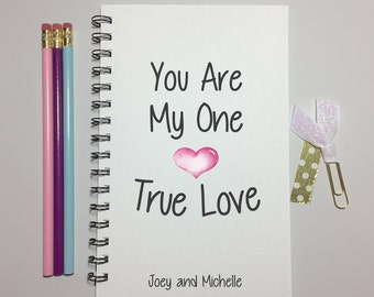 Valentine,True Love, Journal, Bullet Journal, Girlfriend Gift, Boyfriend Gift, Valentine Gift, Gift For Wife, Valentines Day, I Love You
