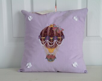 "CUSTOM MADE - 12"" x 12""  Embroidered Decorative Pillow"