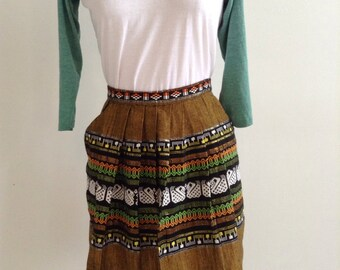 Vintage Woven apron skirt Guatemala