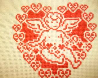 monochrome Angel cross stitch pattern