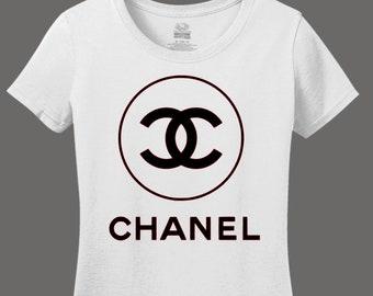 Chanel Fashion Shirt // Women's Chanel Logo Tee // Chanel Shirt