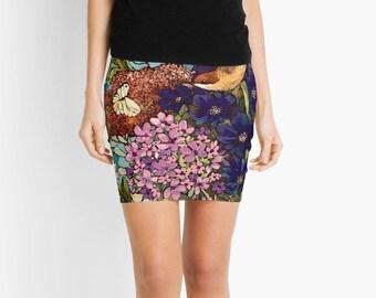 Spring Bird Women Skirt
