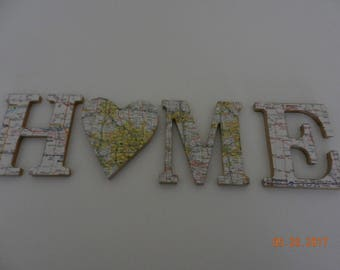 Map letters 3.75 per letter