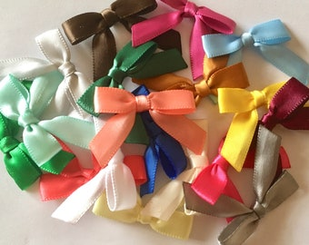 "Mini 1.5"" Handmade Bows - Choose Your Color and Amount"