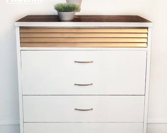SOLD !  MCM - Mid century highboy dresser