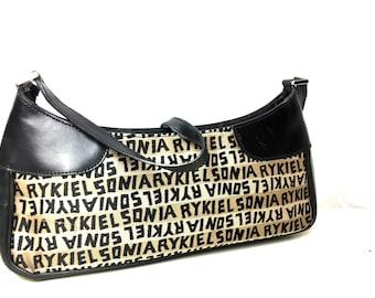 90s rare SONIA RYKIEL bag / vintage Sonia Rykiel / designer bag / monogrammed rykiel bag /