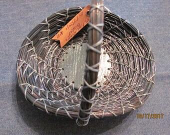 pine needle vanity basket teal