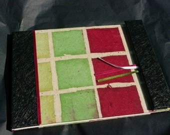 Square red and green