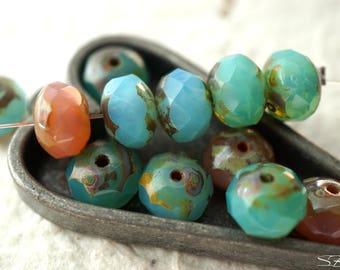 Medley Rondelles, Rondelle Beads, Czech Beads, Beads, N2225
