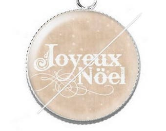 Pendant cabochon resin Merry Christmas happy holidays 28