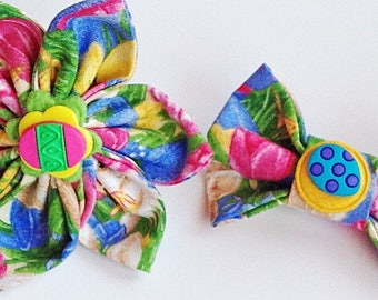 Easter Egg Collar Flower or Bow Tie for Dogs and Cats
