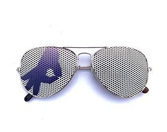 Gotcha Hand Graphic Gesture Circle Game Graphic Aviator Sunglasses