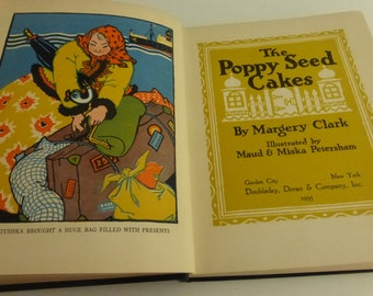 Antique Childrens Book The Poppy Seed Cakes by Margery Clark 1935