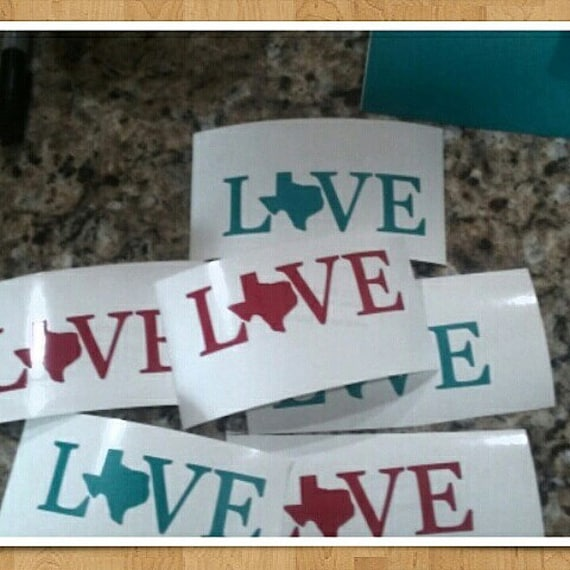 Love Yeti Texas, Texas support decals, state Decals texas, texas decal for yeti cup, Cup stickers, custom decals, Texas pride decals, gifts