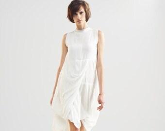 Dresses on sale White Summer Dress, White Tunic Sundress, White Kaftan, Midi Dress, White Tunic Top, Formal Romantic Dress, Backless Dress,