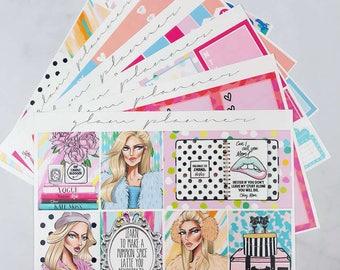 Scream Queens Sticker Kit (Glam Planner Stickers for Erin Condren Life Planner)