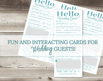 Fun Wedding Game for Guests-Get them talking and laughing-Wedding Advice Questionnaire-Printable