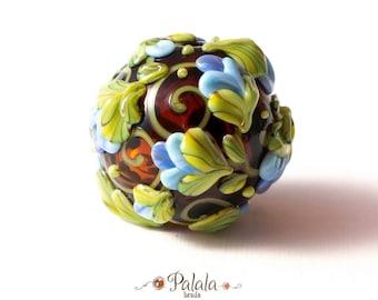 Handmade Lampwork Hollow ornate Bead