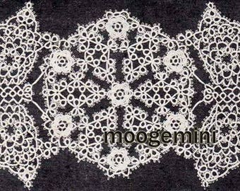 Tatted Doily of Medallions and Butterflies Tatting Pattern PDF