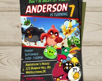 Angry Birds birthday, angry Birds invitation, angry birds birthday invitation, angry birds, angry birds printable, angry birds printable,