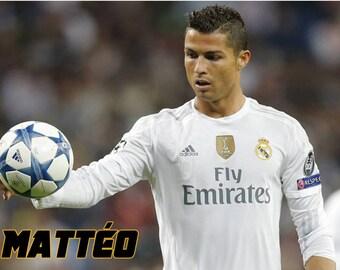 "Custom pvc plate ""Cristiano Ronaldo"" photo"