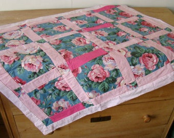 Handmade Baby blanket with roses