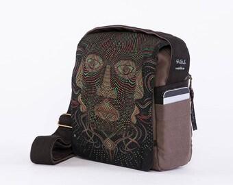 Crossbody Bag, Canvas Handbag, Cross Body Bag, Mens Bag, Over Shoulder Bag, Travel Bag, Gift For Him, Small Shoulder Bag