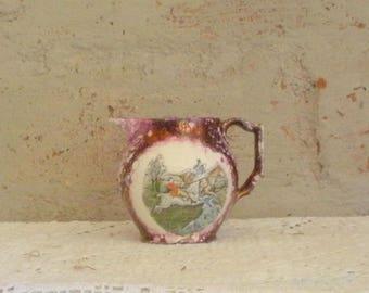 Vintage Cream Pitcher- Purple Lustre by Gray's Pottery