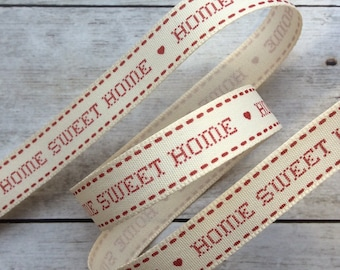 Home Sweet Home Ribbon Red