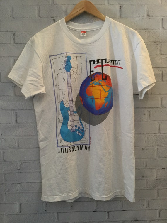 Vintage 90's Eric Clapton Journeyman Concert T Shirt by Etsy