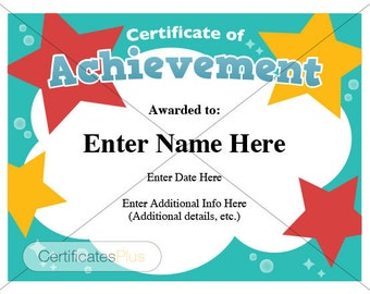 Piano recital certificate piano award printables child certificate of achievement kid certificate child certificate teacher certificate diploma teacher yadclub Choice Image