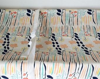 Coral Baby Bedding - Girls Crib Sheets / Mini Crib Sheet /Coral Mint Crib Bedding /Changing Pad Cover /Fitted Crib Sheets Navy Girls Nursery