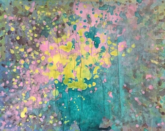 Abstract iridescent painting #2