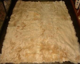 100% Peruvian baby Alpaca Fur Rug Beige 57'' x 45''