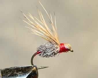 Fly Fisherman - Made in Michigan - Hand-tied - Deer Hair - Fly Fishing Flies - Brown - Grey - Red - Classic Fishing Flies - Number 10 Hook