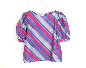 80's Puffy Sleeve Blouse