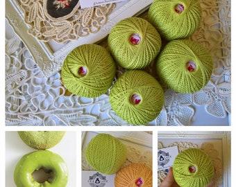 100% Mercerized Cotton yarn-Matcha Green Yarn